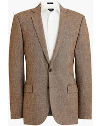 J.Crew Slim-fit Thompson Suit Jacket In Donegal Wool - Brown