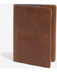 J.Crew Leather Passport Case - Brown