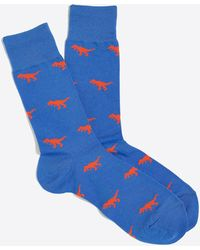 J.Crew T-rex Socks - Blue
