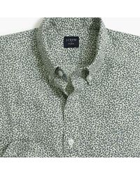 J.Crew - Slim-fit Flex Washed Shirt In Printed Leaves - Lyst