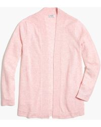 J.Crew Cashmere Open-front Sweater - Pink
