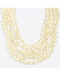 J.Crew Multistrand Pearl Necklace - Multicolor
