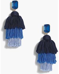 J.Crew - Layered Thread Tassel Earrings - Lyst