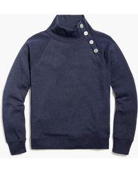 J.Crew Button-collar Pullover Sweatshirt - Blue