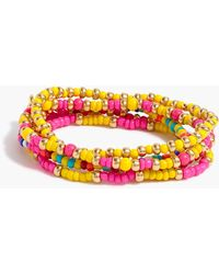 J.Crew Beaded Bracelet Set-of-five - Multicolor