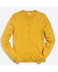 J.Crew Cotton Caryn Cardigan Sweater - Yellow
