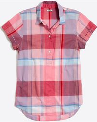 J.Crew - Gingham Short-sleeve Popover Shirt - Lyst