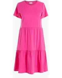 J.Crew Tiered Mini Dress - Pink
