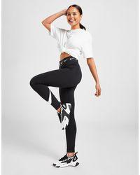 Nike High Waisted Single Swoosh Leggings - Black