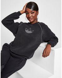 adidas Originals Winter Sherpa Crew Sweatshirt - Black