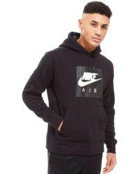 e3283fef47f6 Lyst - Nike Air Overhead Colourblock Hoodie in Black for Men
