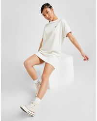 Fred Perry Boxy Pique T-shirt Dress - White
