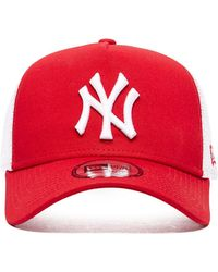 52c609ef KTZ New York Yankees C-Dub 59Fifty Cap in Red - Lyst