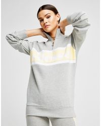 Ellesse - Panel 1/4 Zip Sweatshirt - Lyst