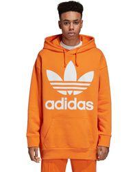 adidas - Oversize Trefoil Hoodie - Lyst