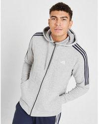 adidas Essential Full Zip Hoodie - Gray