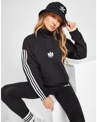 adidas Originals 3d Trefoil 1/4 Zip Top - Black
