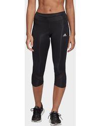 adidas Own The Run 3/4 Leggings - Black