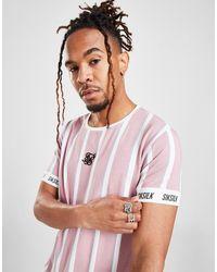 SIKSILK Stripe T-shirt - Pink
