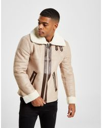 Good For Nothing - Suede Aviator Jacket - Lyst