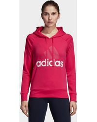 adidas - Essentials Linear Pullover Hoodie - Lyst