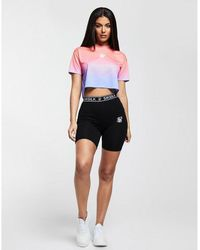SIKSILK Tape Cycle Shorts - Multicolor