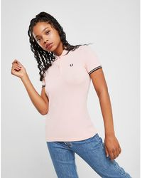 Fred Perry Tipped Polo Shirt - Pink