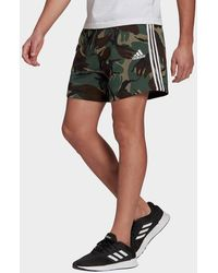 adidas Essentials French Terry Camouflage Shorts - Grey