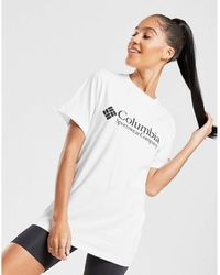 Columbia Logo Boyfriend T-shirt - White