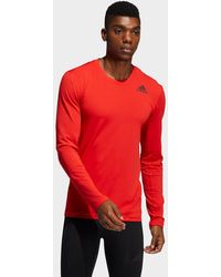 adidas Techfit Compression Long-sleeve Top - Red