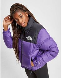 The North Face Cropped Nuptse Jacket - Purple