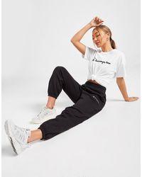 Champion Embossed Logo Fleece Sweatpants - Black