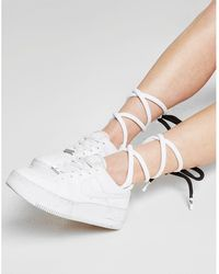 Nike Lace-up Knee-high Socks - White
