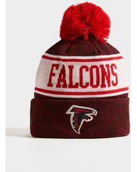 KTZ Nfl Atlanta Falcons Pom Beanie Hat - Red