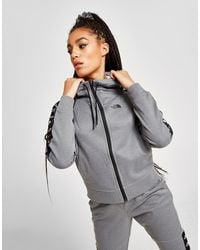 The North Face Tape Poly Full Zip Hoodie - Gray