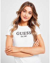 Guess Logo Short Sleeve T-shirt - White