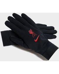 Nike Liverpool Fc Hyperwarm Gloves - Black