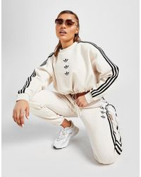 adidas Originals 3-stripes Repeat Trefoil Sweatpants - White