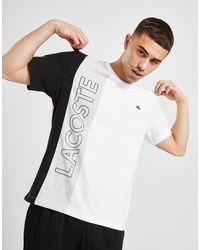 Lacoste Vertical Block T-shirt - White