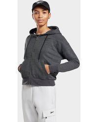 Reebok Textured Zip-up Hoodie - Black