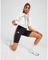 Kappa Tape Cycle Shorts - Black