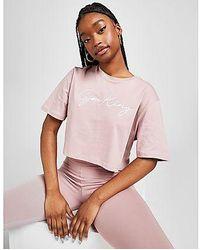 Gym King T-Shirt Crop Script Crop Femme - Multicolore