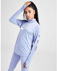 Nike Running Swoosh 1/4 Zip Top Donna - Blu