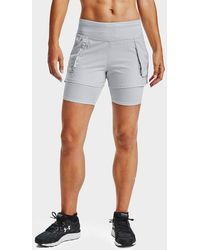 Under Armour Run Anywhere 2-in-1 Shorts - Gray