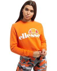 Ellesse | Logo Cropped Crew Sweatshirt | Lyst