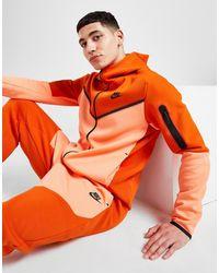 Nike Tech Fleece Full Zip Hoodie - Orange