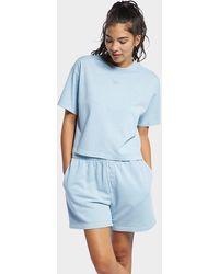 Reebok Classics Natural Dye Cropped T-shirt - Blue