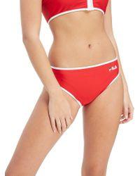 Fila - Contrast Bikini Bottoms - Lyst
