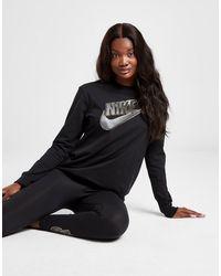 Nike Metallic Futura Long Sleeve T-shirt - Black