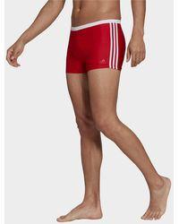 adidas 3-stripes Swim Briefs - Red
